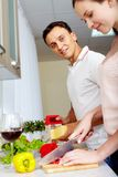Cooking salad Royalty Free Stock Images