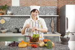 Cooking salad Royalty Free Stock Photography