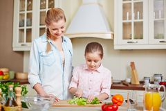 Cooking salad Royalty Free Stock Photo