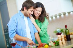 Cooking salad Stock Photography