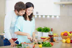 Cooking salad Stock Images