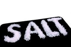 Cooking Salt. Food & Drinks - Ingredients - The word salt written with cooking Salt Stock Photos