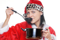 Cooking Santa Royalty Free Stock Photo