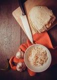 Cooking sauerkraut Stock Images