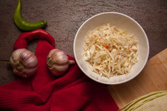 Cooking sauerkraut Royalty Free Stock Images