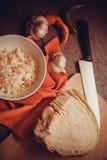 Cooking sauerkraut Stock Photos