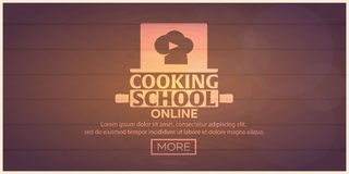 Cooking school, courses online. Culinary class illustration. vector illustration