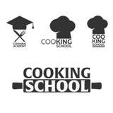 Cooking school logo. Cooking Academy. Vector illustration. Stock Photos