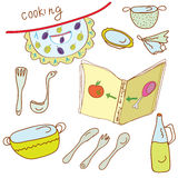 Cooking set Royalty Free Stock Photography