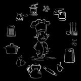 Cooking  set black Stock Photography