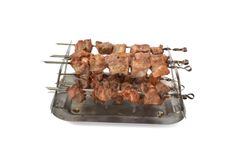 Cooking shish kebab of pork Royalty Free Stock Photos