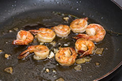 Cooking shrimp Stock Photos