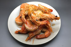 Cooking shrimp and prawn Stock Images