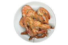 Cooking shrimp and prawn Royalty Free Stock Photography