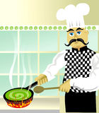 Cooking something special royalty free stock photos