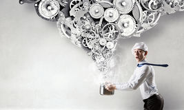 He is cooking something special Royalty Free Stock Photo