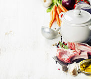Cooking soup Stock Photography