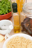 Cooking of Spaghetti Stock Images