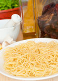 Cooking of Spaghetti Stock Photography