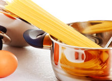 Cooking Spaghetti Royalty Free Stock Photography