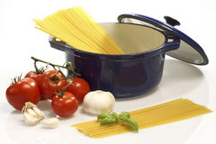 Cooking Spaghetti Stock Images