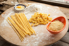 Cooking spaghetti and macaroni at home. Stock Photography