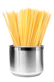 Cooking spaghetti in pot Royalty Free Stock Photography