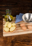Cooking Spanish tortilla Stock Images