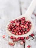Cooking Spoon with Pink Peppercorns Stock Images