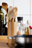 Cooking Spoon Rack in focus Stock Photography
