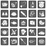 Cooking squared icons. Collection of different cooking squared icons Stock Image