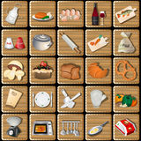 Cooking squared icons Royalty Free Stock Image