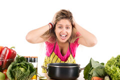 Cooking stress Royalty Free Stock Images