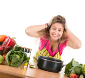 Cooking stress Royalty Free Stock Photo