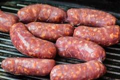 Cooking Sausage Royalty Free Stock Image