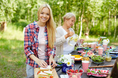 Cooking on summer day Stock Image
