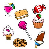Cooking sweet food cartoon Royalty Free Stock Photography