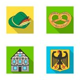Cooking, symbols, clothing and other web icon in flat style.Building, structure, architecture, icons in set collection. Royalty Free Stock Photography