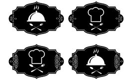 Cooking symbols,  collection Royalty Free Stock Photos