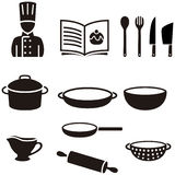 Cooking symbols Royalty Free Stock Images