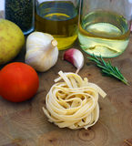 Cooking tagliatelle Stock Photography