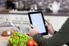Cooking, technology and home concept Royalty Free Stock Image