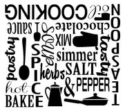 Cooking Themed Word Art Vector Collage Royalty Free Stock Images