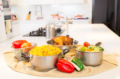 Cooking time, meal in kitchen Stock Photography