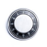 Cooking timer. Cooking 60 minutes metal timer white isolated royalty free stock image