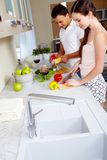 Cooking together Royalty Free Stock Image