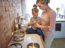 Cooking together Stock Images