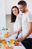 Cooking together is fun. Stock Photography
