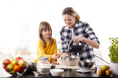 Cooking together Stock Image