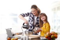 Cooking together Stock Photography
